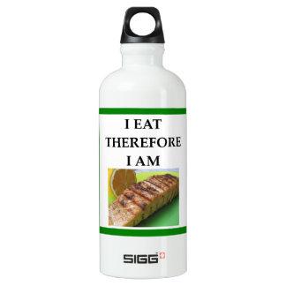 salmon water bottle