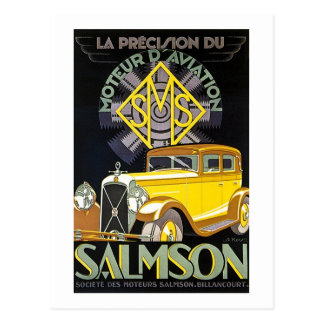 Salmson Autombiles - Moteur D' Aviation Postcard