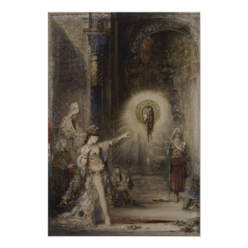 Salome and Apparition Gustave Moreau Watercolor Print