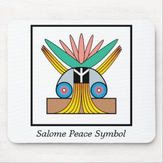 Salome Peace Symbol Mouse Pad