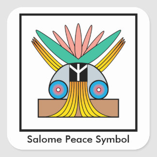 Salome Peace Symbol Sticker