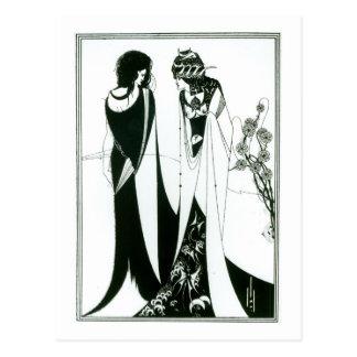 Salome with her mother, Herodias, 1894 (litho) (b/ Postcard