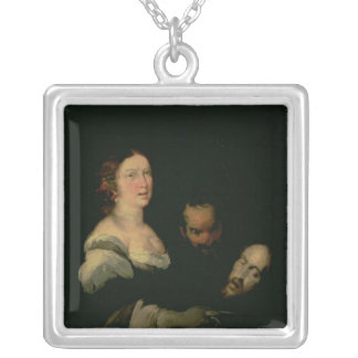 Salome with the head of St. John the Baptist Silver Plated Necklace