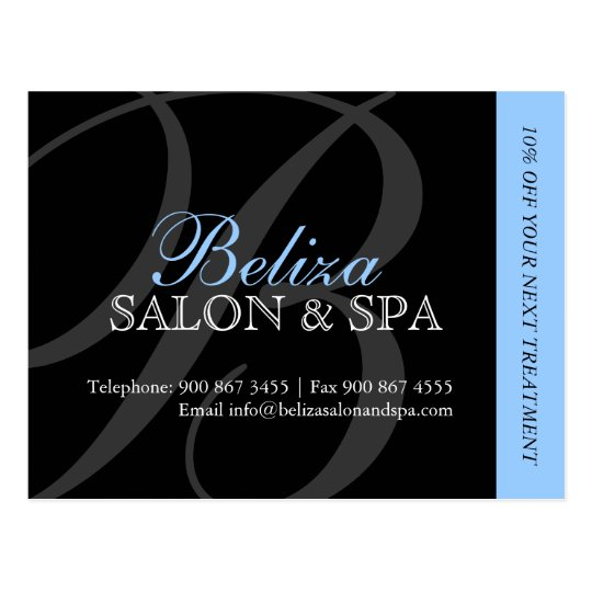 Salon and Spa Advertising Postcard