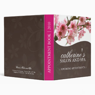 Salon and Spa Appointment Book Vinyl Binders