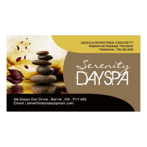 Salon and spa business card zazzle for Spa business card