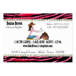 Salon and Spa/ Cowgirl Chubby profile cards Business Card Templates