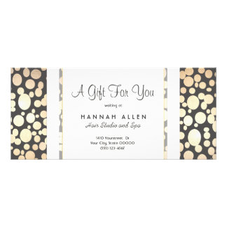 Salon and Spa Gold Circles Gift Certificate Rack Cards