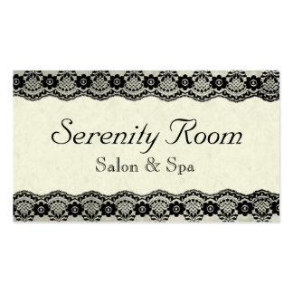 Salon de beauté et carte de visite élégants de spa