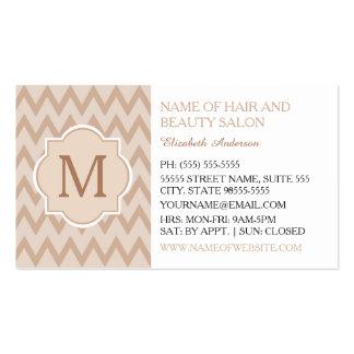 Salon de coiffure bronzage à la mode de monogramme