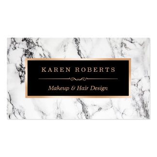 Salon de coiffure de marbre blanc à la mode de carte de visite standard