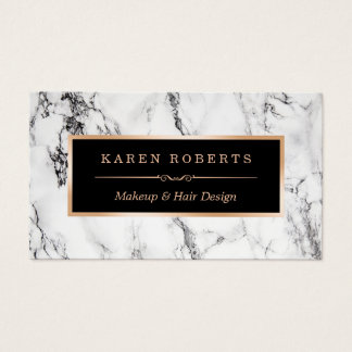 Salon de coiffure de marbre blanc à la mode de cartes de visite