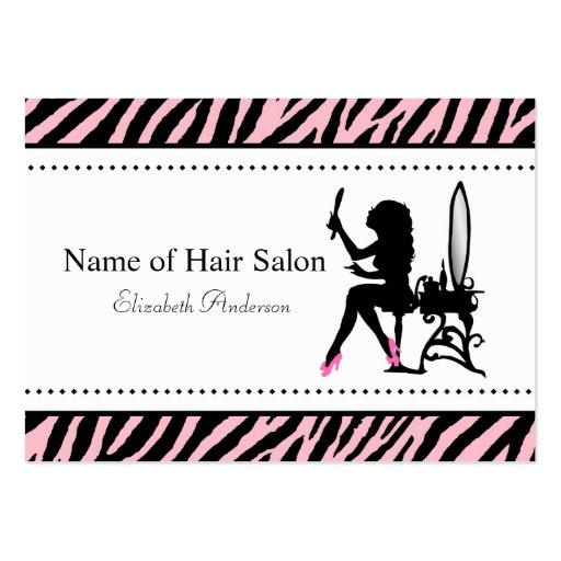 Salon de coiffure rose et noir de femme chic de zè