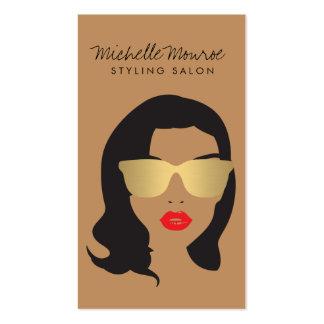 Salon de coiffure, styliste, fille de beauté II Carte De Visite Standard