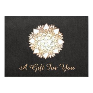 Salon de Lotus blanc et certificat-prime de spa Carton D'invitation 11,43 Cm X 15,87 Cm