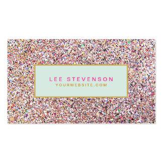Salon et boutique de beauté colorés de cartes de visite personnelles