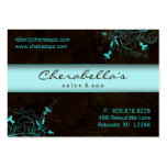 Salon Flower Elegant Turquoise Appointment Card Pack Of Chubby Business Cards
