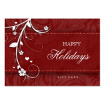Salon Gift Card Xmas Flower Floral Red Hearts Business Card