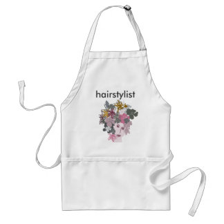 Salon Hair Stylist PInk Blooming Goddess Standard Apron