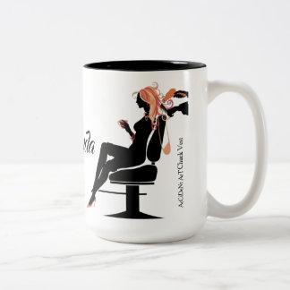 Salon Hairstylist Two Tone15oz Coffee Mug