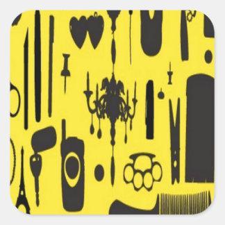 Salon instruments selection design stickers