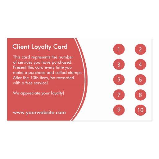 Salon Loyalty Business Card Punch Zazzle