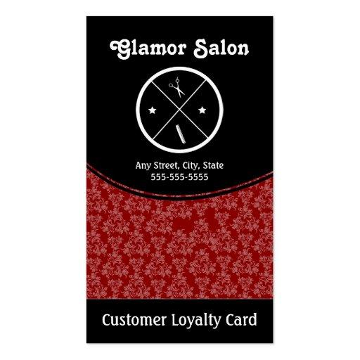 Salon Loyalty Business Card Stamp Card