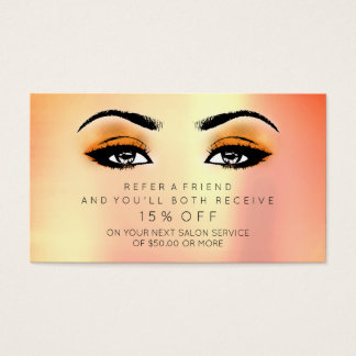 Salon Referential Card Lashes Makeup Candy Coral
