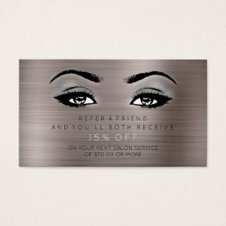 Salon Referential Card Lashes Makeup Gray Ivory