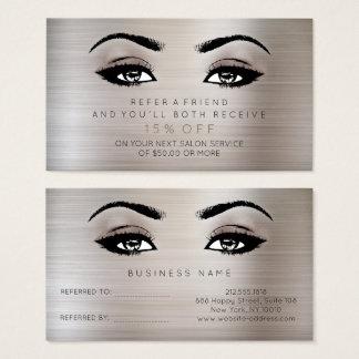 Salon Referential Card Lashes Makeup Noir Titanium