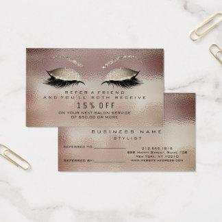 Salon Referral Card Glass Caffe Noir Lashes