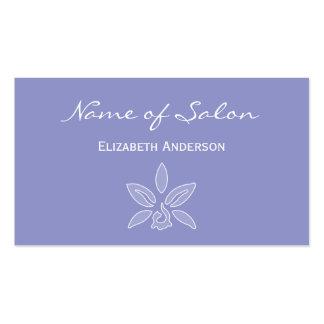 Salon simple et chic en lavande violette florale carte de visite