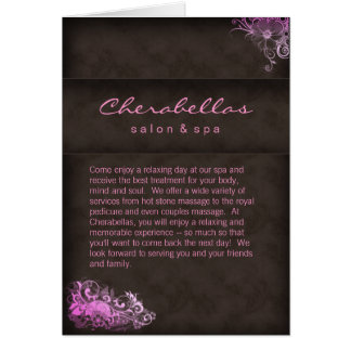 Salon Spa Brochure Pink Brown Greeting Card