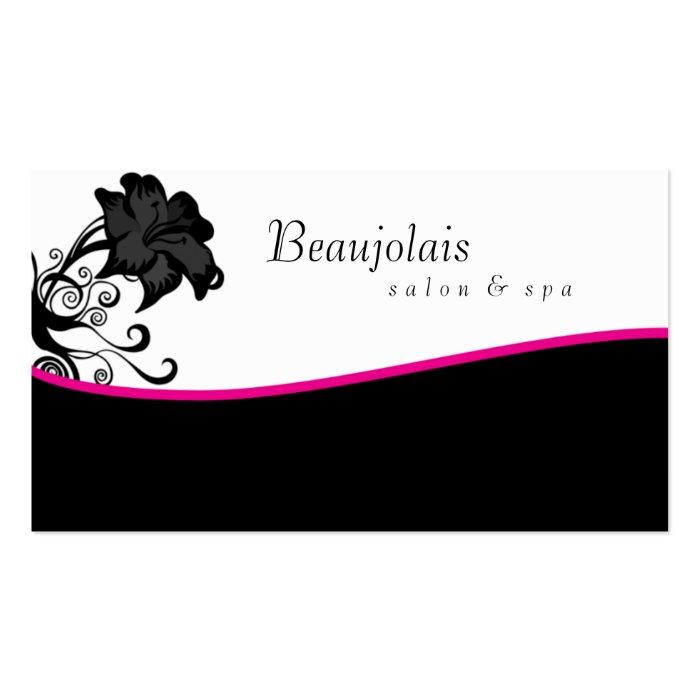 Salon Spa Massage Therapy Business Card Pink