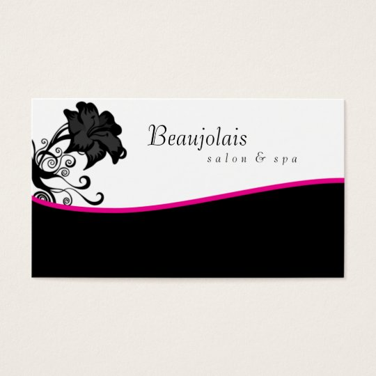 Salon Spa Massage Therapy Business Card Pink