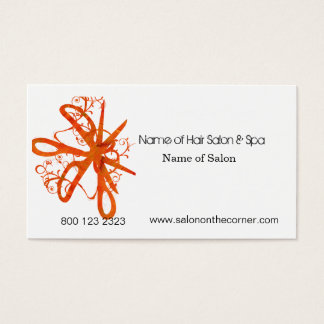 Salon Spa Swirl Scissors Business Card