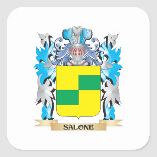 Salone Coat of Arms - Family Crest Square Sticker