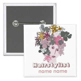 Salons Hair Styling Blooming Goddess 2 Inch Square Button