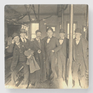 Saloon Bar Interior Men Man Cave 1890's Photo pub Stone Coaster
