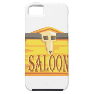 Saloon Sign With Dead Head Drawing Isolated On Whi Case For The iPhone 5