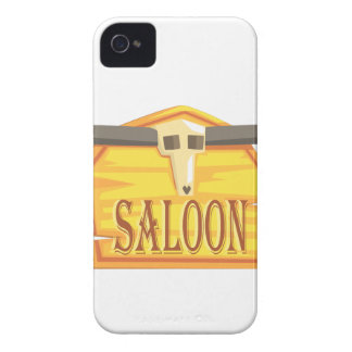 Saloon Sign With Dead Head Drawing Isolated On Whi iPhone 4 Case-Mate Case