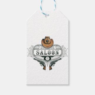 saloon vintage cowboy guns gift tags