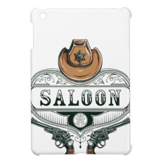saloon vintage cowboy guns iPad mini covers