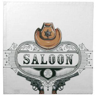 saloon vintage cowboy guns napkin