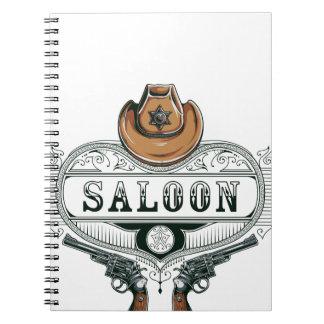 saloon vintage cowboy guns notebook