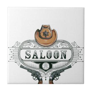 saloon vintage cowboy guns tile