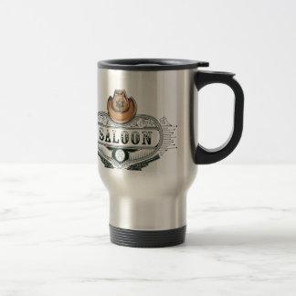 saloon vintage cowboy guns travel mug