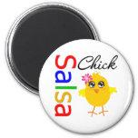 Salsa Chick 2 Inch Round Magnet