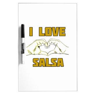 salsa dance design dry erase board