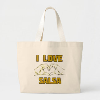 salsa dance design large tote bag